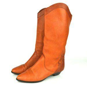 Vtg 1980s Western Midcalf Gloria Vanderbilt Boots